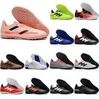 2019 hombre de fútbol CLASE DE SOFTER TANGO 18.4 TF Turf Zapatos de fútbol interior Predator 18 Botas de fútbol de acelerador Tacos de Futbol