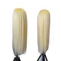 100% Çin İnsan Saç 26 28 inç Sarışın Renk 613 Tam Dantel İnsan Peruk Arapsaçı Ücretsiz Atma Ücretsiz Sınırlı Stok Teklif