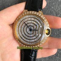 Versione top Diamanti HPI00511 WE902012 Gypsophila Dial Giappone Miyota 9015 Leather Mens automatica di caso Diamond Watch Strap fuori ghiacciato Orologi