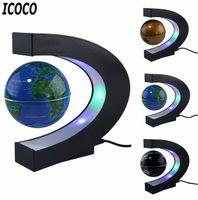 LED Weltkarte Magnetschwebebahn Floating Globe Home Elektronische Antigravity Lampe Neuheit Ball Licht Geburtstagsdekoration