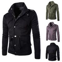 Мужские куртки High Street Style Spring пальто с длинным рукавом пальто Плюс Размер Теплые куртки для мужчин-азиатского размера M - 4XL
