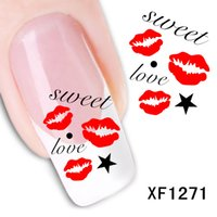 Nail Art Decals Sticker Ink Painting Sweet Love Music Stave ...