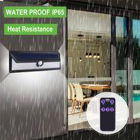 2021 роман светодиодный открытый солнечный прожектор уличные светильники, беспроводной водонепроницаемый IP65 ABS ABS автоматический ощущение газона, садовая настенная лампа оптом экономия электроэнергии DHL