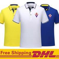 Free DHL Shipping Fiorentina soccer Polo Shirt men Short Sleeve polos training Football T-Shirt Jersey can be mixed batch Men's Polos
