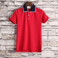 Men's New Fashion stripe classic Brand polos men Casual t shirt Embroidered Medusa Cotton polo Shirt High street collar Luxury Polos shirts