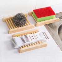 Natural de bambu do sabão de madeira Pratos suporte de madeira Soap Tray sabão rack de armazenamento Placa Box Container para o banho chuveiro casa de banho CFYZ357Q