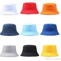Viaggi Fisherman per il tempo libero dei cappelli della benna solido di colore di modo donne degli uomini Flat Top tesa larga Berretto Estivo per gli sport esterni Visor dc281
