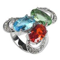 SHUNXUNZE первый класс продукты старинные обручальные кольца ювелирные изделия для благородных женщин зеленый красный синий кубический цирконий родий покрытием R333 размер 6-9