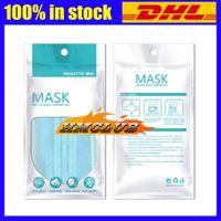 OPP Sacs pour le visage sac masque de masques de protection à usage unique 3Layers sac antipoussière couverture du visage antibactérien sacs masques bouche 13 * 25 21 * 15cm de