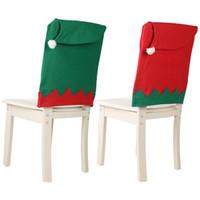Président Big Hat Christmas Cover 47 * 63cm Dîner de Noël Décoration tissus non-tissés couverture de chaise de Noël Ornement Accueil Décoration