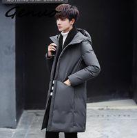 2019 de alta calidad de 90% de pato blanco abajo de la chaqueta gruesa capa de los hombres de nieve Parkas Hombre caliente Marca Ropa de invierno por la chaqueta de abrigo