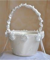 빈티지 새틴 결혼식 결혼식 파티 사랑 사례 수제 장미 꽃 바구니 소녀 결혼식 꽃잎 보관 가방 컨테이너