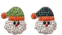18mm Noosa Snap Düğme Takı Noel Baba Noel Zencefil çekin Noel Baba Chunks Fit DIY çekin Bilezikler Noel Hediyesi