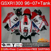 Kit para SUZUKI Hayabusa GSX-R1300 1996 1997 1998 2007 24HC.27 GSXR 1300 GSXR1300 96 97 98 99 00 01 02 03 04 05 06 07 rojo blanco caliente Carenados