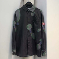 Cav Empt Shirt Turn Down Collar Cotton Men Women Cola Print ...