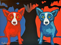 George Rodrigue Blue Dog Be My Valentine Home Decor Handpain...