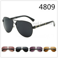 새로운 패션 남성 클래식 빈티지 금속 태양 안경 4809 브랜드 디자이너 선글라스 남성 여성 스포츠 자전거 야외 브랜드 선글라스