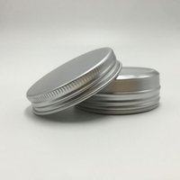 Высокий класс алюминиевых баночки 30мли Refillable Крема для лица Баночки лосьона Горшки Screw Top Metal Lip Balm Tin Can Макияж Аксессуары 50шт / много