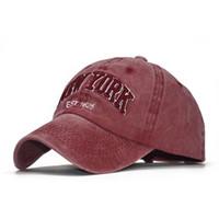 Ozyc الرمال غسلها 100٪ القطن قبعة قبعة بيسبول للنساء الرجال خمر أبي قبعة نيويورك التطريز إلكتروني في الهواء الطلق قبعات الرياضة