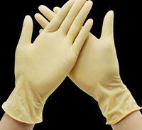 Einweg-Latexhandschuhe Gummi für Reinigung Lebensmittel Handschuhe Gummi Universal-Haushalt Garten Schutzhandschuh 3 FARBEN KKA7889