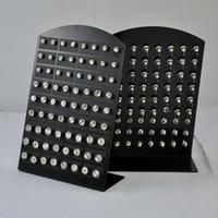 72pcs / Set Mulheres strass Zircon brincos de aço inoxidável para a mulher Moda Jóias Atacado Hotsale LB285