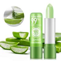 Kus schoonheid aloë vera vochtige lippenstift temperatuur kleur verandering dame langdurige lip moisturizer jelly balsem gratis DHL 60pcs