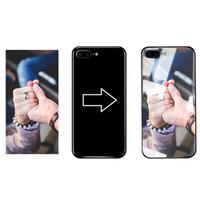 DIYのカスタム電話ケースUV印刷ロゴのパーソナライズされた強化されたガラスカバーはiPhone x 11 12 Pro最大ギャラクシーS20プラス超シェル