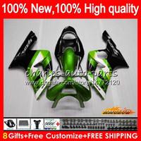 OEM металла зеленый для тела KAWASAKI ZX 636 6 R 600cc ZX600 600 CC ZX636 36HC.44 ZX 6R 03 04 ZX636 ZX600 ZX6R 03 04 ZX6R 2003 2004 обтекателя
