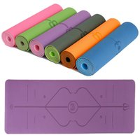 1830*610*6mm TPE Yoga Mat with Position Line Anti- slip Carpe...