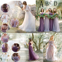 Boho Bridesmaids Dresses Long Convertible Bridesmaid Dress T...