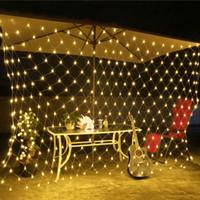 Llevó la iluminación de vacaciones luces netas 8 Modos Decoración de Navidad boda 220V Luz secuencia de hadas Año Nuevo Multi jardín al aire libre