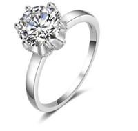 Низкая цена высокое качество Chaming 925 серебро алмаз кристалл женское кольцо 6 7 8 9 размер 9.31hhh
