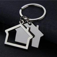 크리에이티브 하우스 열쇠 고리 금속 열쇠 고리 집 디자인 자동차 열쇠 고리 열쇠 펜던트 키 홀더 KKA7540 모양의