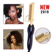 Hot Electric Hair Bigodel Pettine Bagnato e Dry Uso Capelli Curling Iron Streaning PORTICI PORTICI RAME 110-240V Strumenti per lo styling per capelli