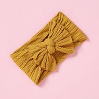 Bowknot baby fascia elastica Hairband Turbante Archi neonata dei capretti fasce fasce dei capelli per gli accessori Ragazze Haarband capelli