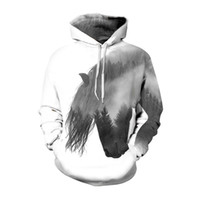 Plus Size Horse Print 3d Hoodies Sweatshirt Men Women Haraju...