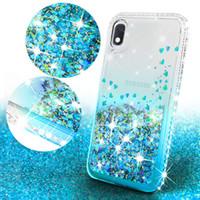 Для Samsung A51 A11 A21 A01 A20 A30 A10E A20E Примечание 20 S20 Ультра Примечание 10 S10 Plus Алмазная Liquid Блеск Floating Quicksand телефон крышки случая