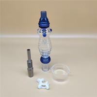 Nectar de vague populaire Collectorx de style chaud réglé avec le bol en verre de connecteur plastique de connecteur titanique de 14mm pour le verre de paille Bongs