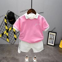 DFXD New 2020 Summer Toddler Boy Clothes Set Turn Down Colla...