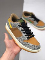 Uomini 1 Low Dunking Bassa Safari Skateboard Scarpe Donna Fashion Casual Walking Trainer Sneakers 36-44