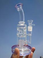Mothers-Ship Dritto Fab Egg Bong in vetro Trasparente Heady Glass Tubi di acqua Cera Pipa Pipes Narghilè 2 Funzione Bruciatori a olio con ciotole