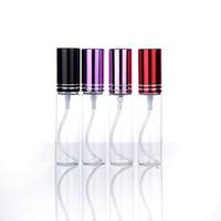 10ML فارغة زجاجات العطور الزجاج الشفاف زجاجة عطر البخاخة إعادة الملء رذاذ زجاجة السفر في الهواء الطلق من 10colors المحمولة HHA1347