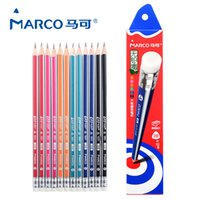 12PCS Set 2B lead- free poison triangle pencil Pens Office an...