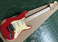 Red Vintage Styles Electric Guitar with Floyd Rose, Cream Pic...