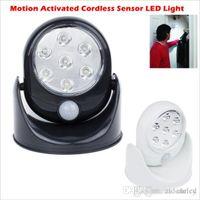 sensor de movimiento luces de pared LED inalámbrico luz del gabinete interior de la pared del patio del jardín del ourdoor apliques frío / blanco cálido