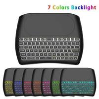 Hintergrundbeleuchtung 2,4 GHz Wireless-Air Mouse D8 Pro Englisch D8 Plus Mini Tastatur Touchpad-Controller für Android BOX