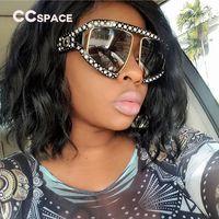 2018 Oversized Pearl Frame óculos de proteção óculos de sol das mulheres Shades luxo 45474 CCSPACE óculos de marca Designer de moda feminina UV400
