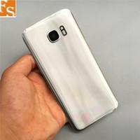 Batterie-Tür-rückseitige Abdeckung Glasgehäuse + Kleber-Aufkleber für Samsung Galaxy S7 G930 G930F G930T vs S7 Rand G935 G935F G935T 30pcs Lot