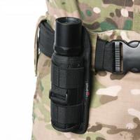 Taschenlampe Holster Pouch Belt Holster für taktische Taschenlampe Gürtelschutzhülle mit 360 Grad drehbarem Clip