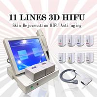 3D hifu 몸과 얼굴 휴대용 hifu 주름 제거 피부 강화 기계 기계 2 hif hifu 11 lines